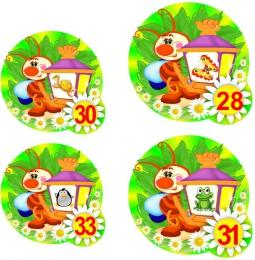 Купить Наклейки на шкафчики группа Светлячки 72 шт. 73*73мм  87*87мм в Беларуси от 24.00 BYN
