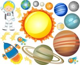 Купить Наклейки на тему Космос для группы Астронавты увеличенные в Беларуси от 25.00 BYN