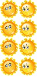 Купить Наклейки Наше настроение в группу Солнышко 8 шт. размер 100*107 мм в Беларуси от 5.00 BYN