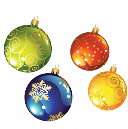 Купить Наклейки Новогодние шарики ,размер 103х120 и 84х98 мм 24 шт в Беларуси от 10.00 BYN