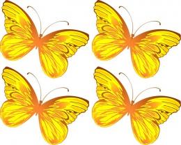 Купить Односторонний фигурный элемент Бабочка для оформления группы детского сада 24 шт. 110*90мм в Беларуси от 37.00 BYN