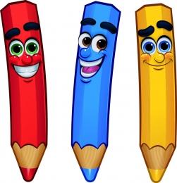 Купить Односторонний фигурный элемент Цветные карандаши 3 шт. в Беларуси от 24.00 BYN