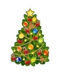 Купить Односторонний фигурный элемент Новогодняя ёлочка маленькая 470*700мм в Беларуси от 40.00 BYN