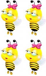 Купить Односторонний фигурный элемент Пчёлка для оформления группы детского сада 24 шт. 60*100мм в Беларуси от 21.00 BYN