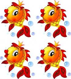 Купить Односторонний фигурный элемент Рыбка для оформления группы детского сада 24 шт. 80*80мм в Беларуси от 24.32 BYN