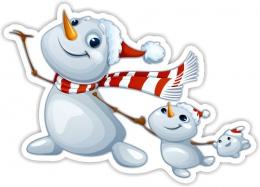 Купить Односторонний фигурный элемент Снеговики 520*370мм в Беларуси от 23.00 BYN