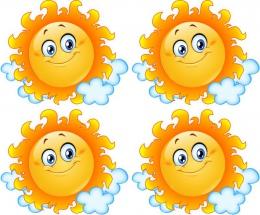 Купить Односторонний фигурный элемент Солнышко для оформления группы детского сада 24 шт. 120*100мм в Беларуси от 41.00 BYN