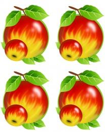 Купить Односторонний фигурный элемент Яблочко для оформления группы детского сада 24 шт. 70*90мм в Беларуси от 141.00 BYN