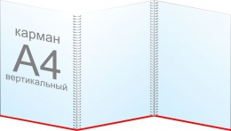 Купить Папка передвижка на 3 вертикальных кармана А4 в Беларуси от 19.30 BYN