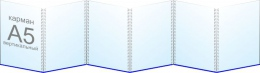 Купить Папка-передвижка на 6 вертикальных карманов А5 в Беларуси от 18.50 BYN
