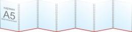 Купить Папка-передвижка на 7 вертикальных карманов А5 в Беларуси от 21.30 BYN