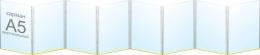 Купить Папка-передвижка на 8 вертикальных карманов А5 в Беларуси от 24.10 BYN