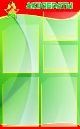 Купить Стенд Акцябраты зеленый с карманами для фото 500*800мм в Беларуси от 55.50 BYN