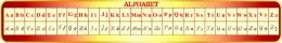Купить Стенд Алфавит для кабинета французского языка 1950*300мм в Беларуси от 64.00 BYN
