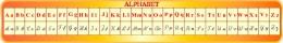 Купить Стенд Алфавит для кабинета французского языка в жёлто-оранжевых тонах 1950*300мм в Беларуси от 64.00 BYN