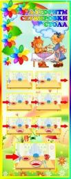 Купить Стенд Алгоритм сервировки стола в группу Семицветик 200*500 мм в Беларуси от 11.00 BYN