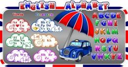 Купить Стенд Английский Алфавит с в стиле Лондон 1370*720 мм в Беларуси от 112.00 BYN