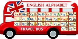 Купить Стенд Английский Алфавит в виде автобуса 1050*530мм в Беларуси от 64.00 BYN