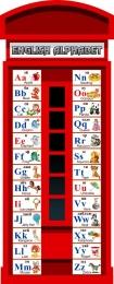 Купить Стенд Английский Алфавит в виде телефонной будки 300*750 мм. в Беларуси от 26.00 BYN