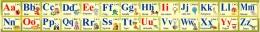 Купить Стенд Английский Алфавит в золотисто-оливковых тонах 2000*250мм в Беларуси от 58.00 BYN