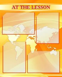 Купить Стенд AT THE LESSON для кабинета английского языка 600*750мм в Беларуси от 62.00 BYN