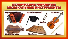 Купить Стенд Белорусские народные музыкальные инструменты для кабинета музыки 900*520мм в Беларуси от 51.00 BYN