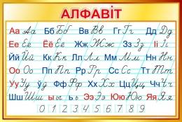 Купить Стенд Белорусский алфавит прописной и строчной в золотистых тонах 1000*670 мм в Беларуси от 73.00 BYN