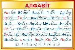 Купить Стенд Белорусский прописной Алфавит по Тириновой в золотистых тонах 1000*670мм в Беларуси от 76.00 BYN