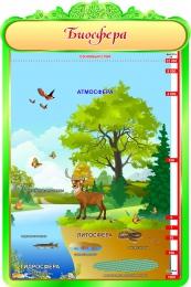 Купить Стенд Биосфера в кабинет биологии в бежево-зеленых тонах 600*900мм в Беларуси от 62.00 BYN