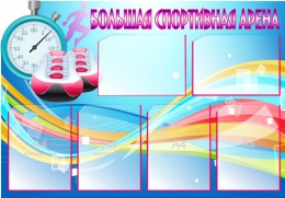 Купить Стенд Большая спортивная арена в синих тонах 1000*700 мм в Беларуси от 100.00 BYN