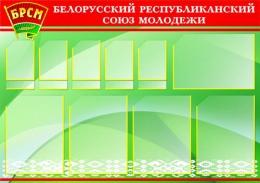 Купить Стенд  БРСМ Белорусский республиканский союз молодежи 1000*700 мм в Беларуси от 96.50 BYN