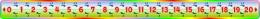 Купить Стенд Числовая прямая в радужных тонах 2000*150мм в Беларуси от 129.00 BYN