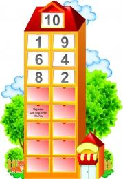 Купить Стенд Числовой домик 600*860 мм в Беларуси от 87.00 BYN