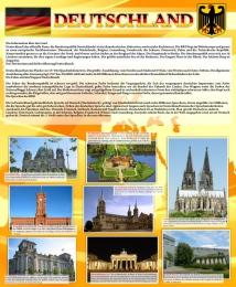 Купить Стенд  Deutschland  для кабинета немецкого языка в желтых тонах 700*850 мм в Беларуси от 65.00 BYN