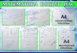 Купить Стенд для кабинета Математики Математика вокруг нас маленький 1020*710мм в Беларуси от 96.50 BYN
