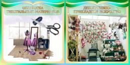 Купить Стенд Для оформления кабинета трудового обучения в золотисто-оливковых тонах 700*350 мм в Беларуси от 29.00 BYN