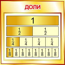 Купить Стенд Доли  550*550мм в Беларуси от 35.00 BYN