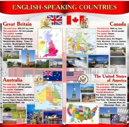 Купить Стенд Достопримечательности англоговорящих стран в серо-красных тонах 750*760мм в Беларуси от 62.00 BYN