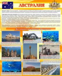 Купить Стенд Достопримечательности Австралии желтый 700*850мм в Беларуси от 68.00 BYN