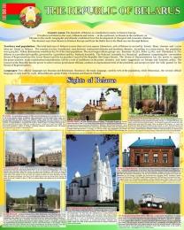 Купить Стенд Достопримечательности Беларуси на английском языке 600*750 мм в Беларуси от 51.00 BYN
