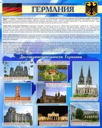 Купить Стенд Достопримечательности Германии в голубых тонах 600*750 мм в Беларуси от 49.00 BYN