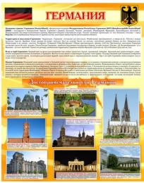 Купить Стенд Достопримечательности Германии желтый 850*700 мм в Беларуси от 65.00 BYN