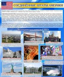 Купить Стенд Достопримечательности США 600*750мм в Беларуси от 52.00 BYN