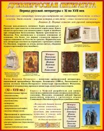 Купить Стенд Древнерусская литература в золотисто-бордовых тонах 400*500 мм в Беларуси от 22.00 BYN