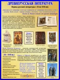 Купить Стенд Древнерусская литература 450*600 мм в Беларуси от 31.00 BYN