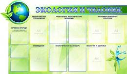 Купить Стенд Экология и человек 1500*900мм в Беларуси от 180.70 BYN