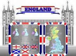 Купить Стенд England для кабинета английского языка 1500*1100 мм в Беларуси от 212.00 BYN
