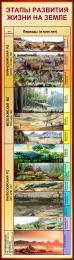 Купить Стенд Этапы развития жизни на Земле в золотисто-бордовых тонах 400*1400 мм в Беларуси от 64.00 BYN