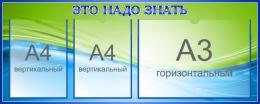 Купить Стенд Это надо знать в зелёно-голубых тонах 1000*400 мм. в Беларуси от 56.00 BYN
