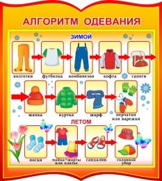 Купить Стенд фигурный Алгоритм одевания для группы Брусничка 270*300 мм в Беларуси от 10.00 BYN